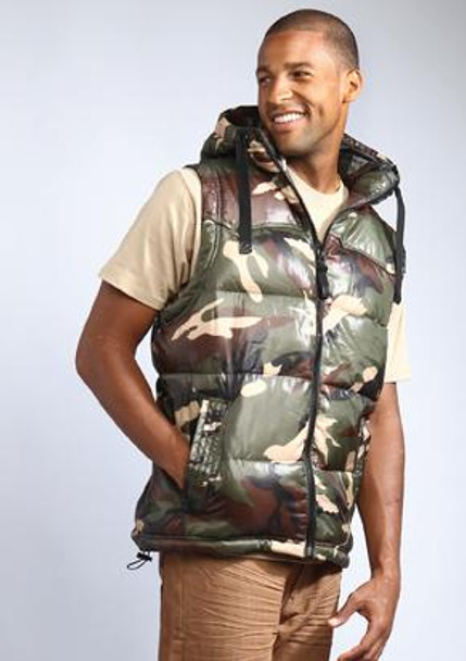 Camouflage Mens Hooded Vest