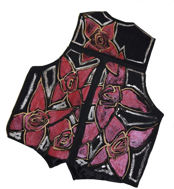 Need That Rose Gold Black Suede Vest