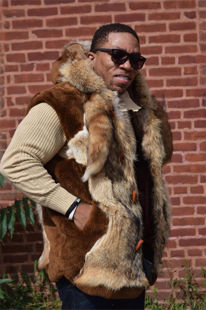 Brown Mouton Fur Vest