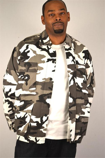 Urban Camoflauge Shirt Jacket