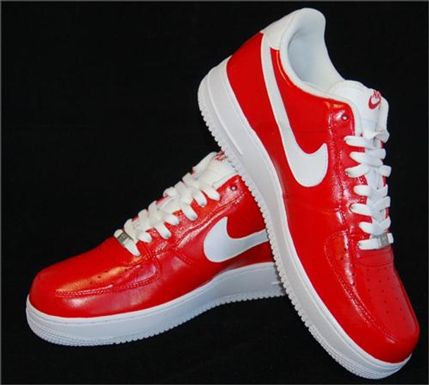 REMIXDAKICKZ Red Glam Slam Custom Air Force One Sneakers