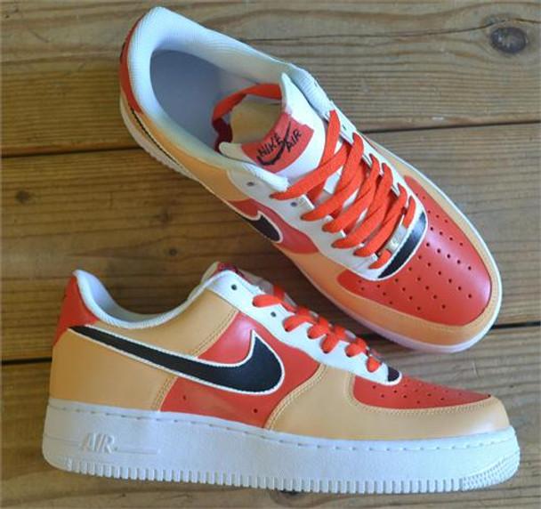 Orange Yellow Black Hand Painted Sneakers Remixdakickz