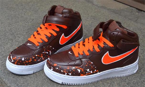 Remixdakickz Brown Custom Sneakers