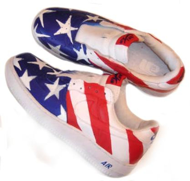 266b6ceab REMIXDAKICKZ Stars and Stripes Custom Painted AF1 Sneakers