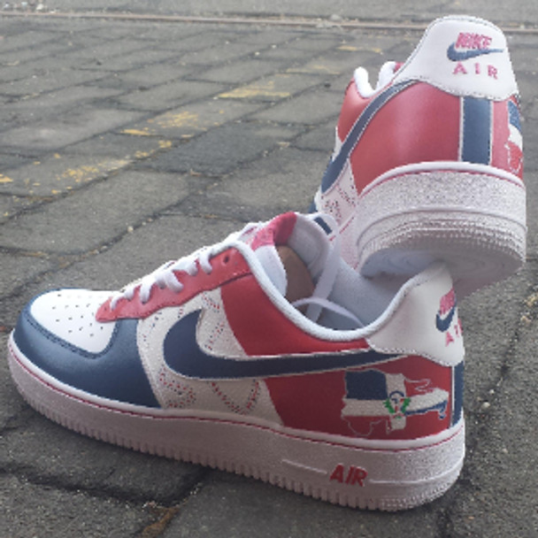 Dominican Custom Air Force Ones Sneakers