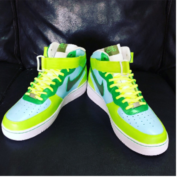 Neon Scene High Top AF1 Sneakers