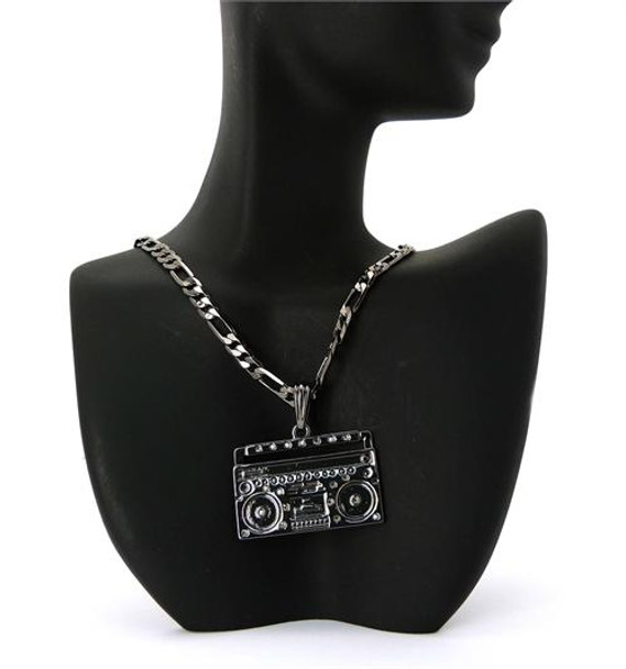 Black Baby Boom Box Chain