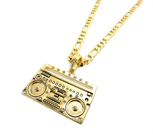 Gold Baby Boom Box Chain