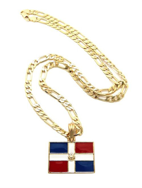 Gold Dominican Republic Link Chain
