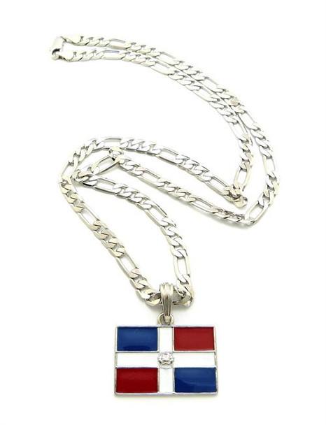 Silver Dominican Republic Link Chain