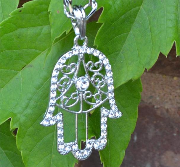 Silver Small Hamsa Chain