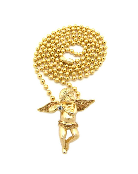 Angel Baby One Stone Gold Wings Chain