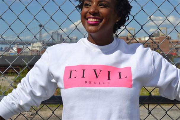 Civil Clothing Box Crop Crew Neck Sweater