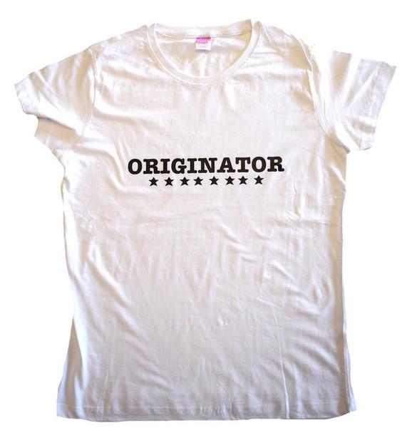 White Originator tee shirt (IH-WOTS)