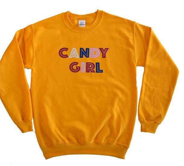 Candy Girl Gold Sweatshirt (IH-cggs)