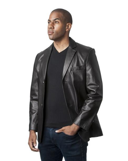 Black Butter Soft Leather Blazer