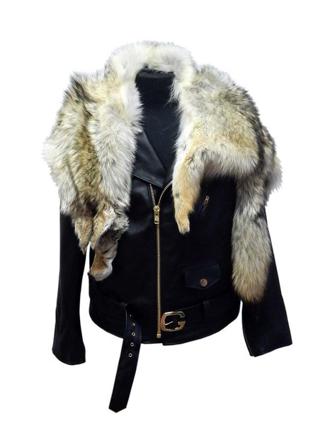 Jakewood G Gator Motorcycle jacket with full coyote collar