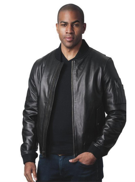 Contemporary Leather Flight Jacket