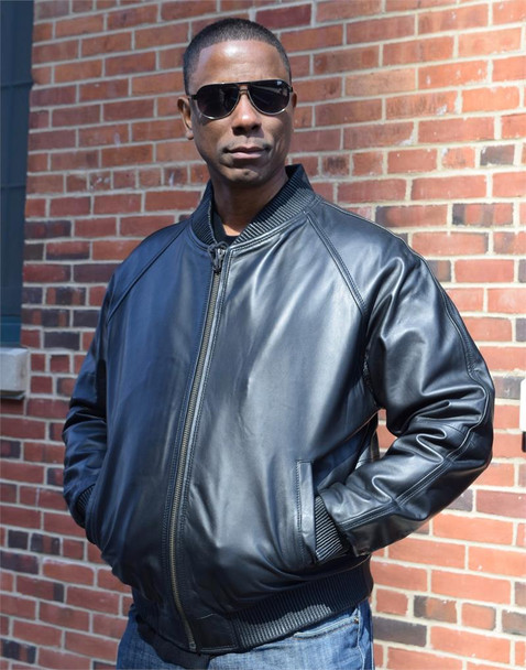 Black Butter Soft Varsity Baseball Leather Jacket