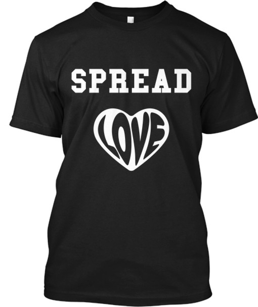 Spread Love BK Mens Black Tee