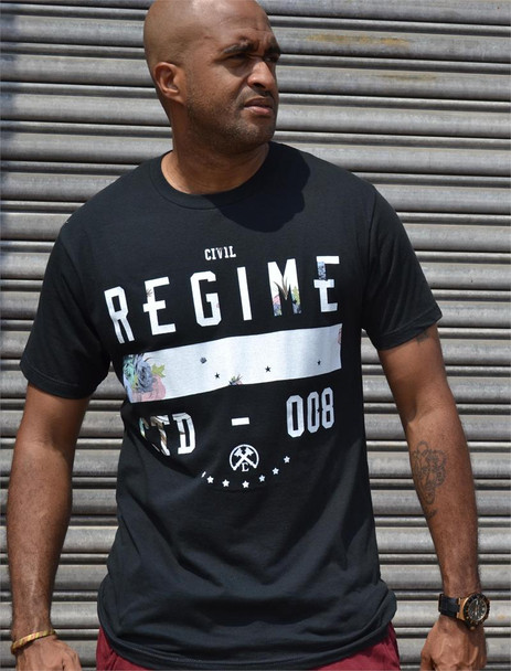 Civil Mens Black Regime Tee Shirt