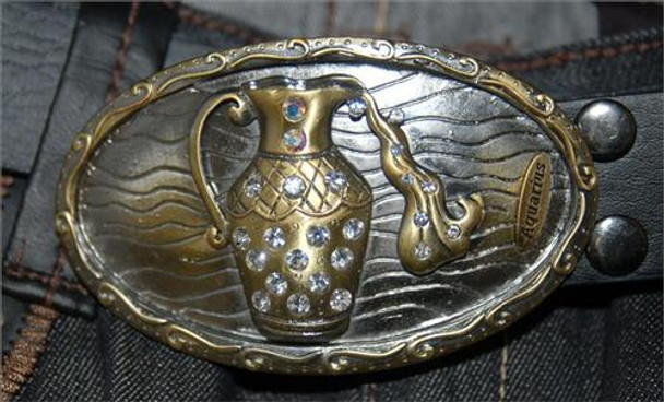 Brass Aquarius Belt Buckle