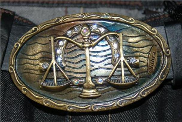 Brass Libra Belt Buckle