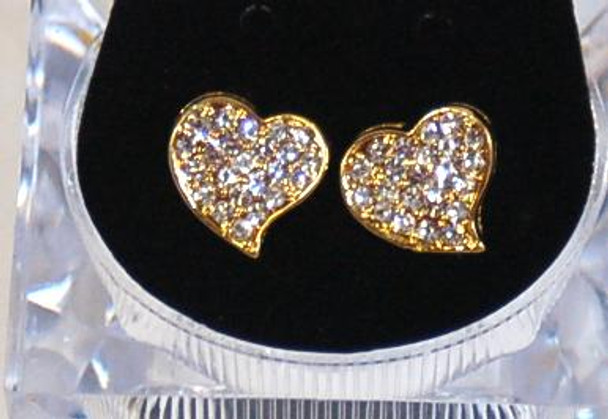 Icey Hearts Studs
