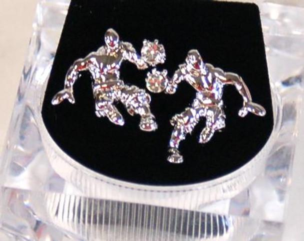 Silver Plated Dribbler Earrings