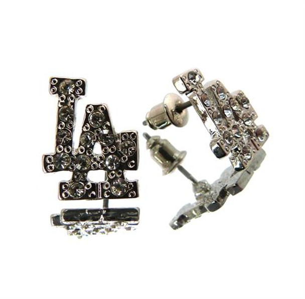 Silver Plated LA Earrings
