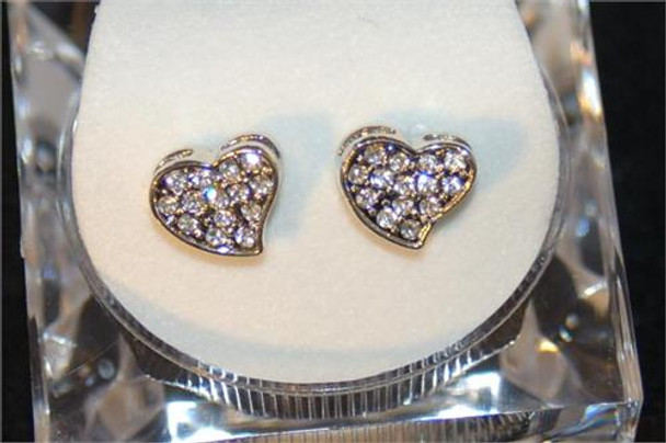 Icy Heart Womens Earrings