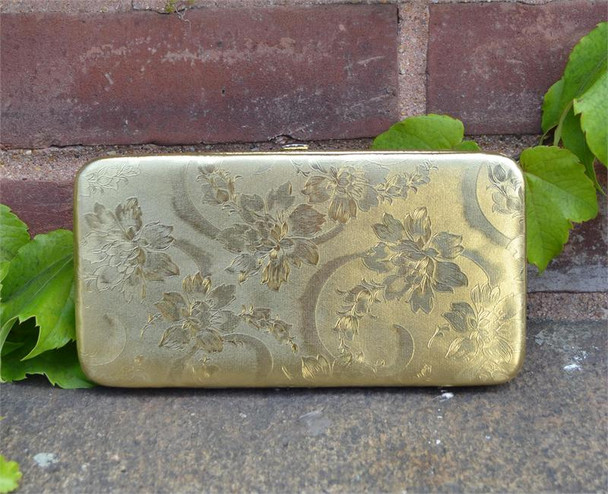 Gold Flower Wallet Wristlet