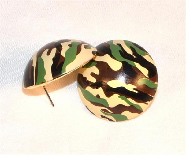 Camoflauge Stud Earrings