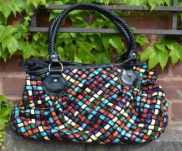 Multi Color Weave Purse