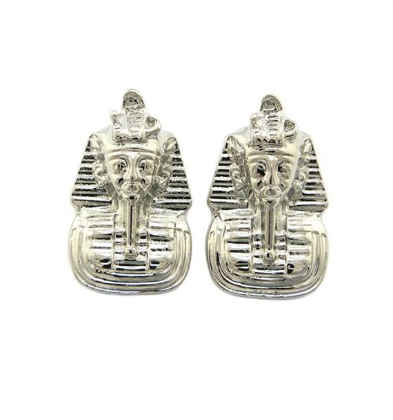 Silver Pharoah Stud Earrings