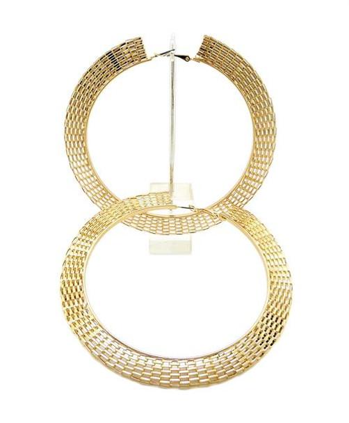 Gold Mesh Hoop Earrings