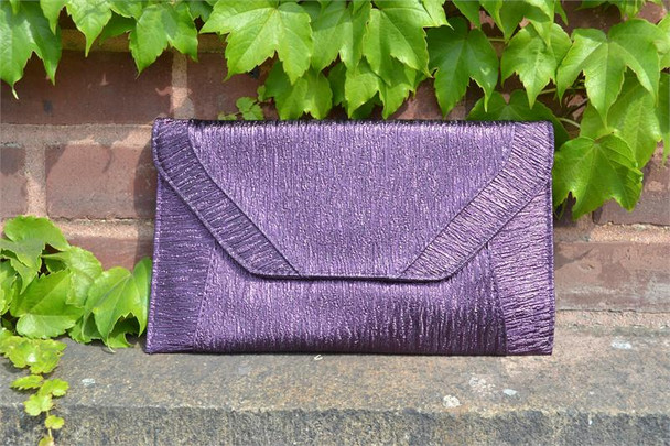 Purple Metallic Envelope Purse