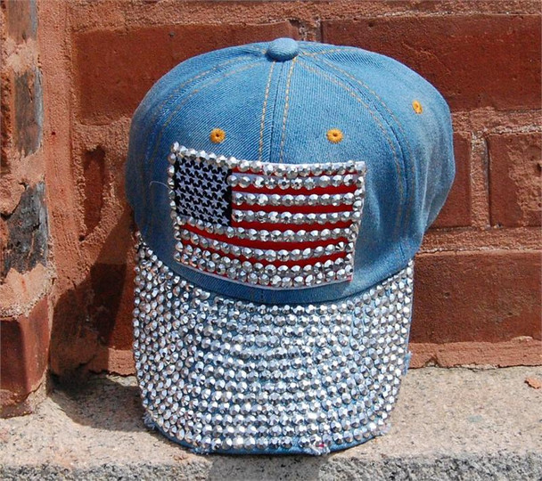Stoned American Flag Baseball Cap