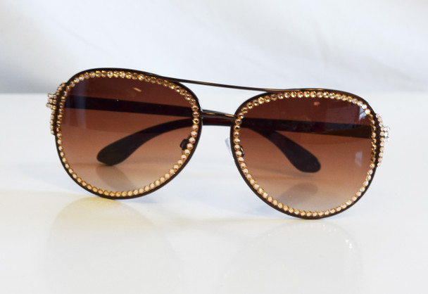 Gold Studded Sunglasses