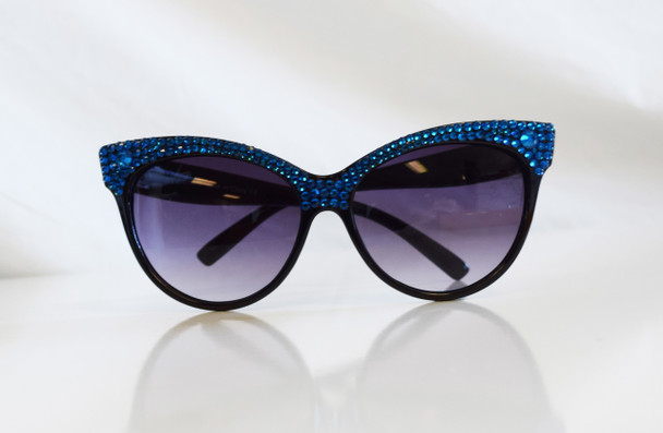 Blue Studded Sunglasses