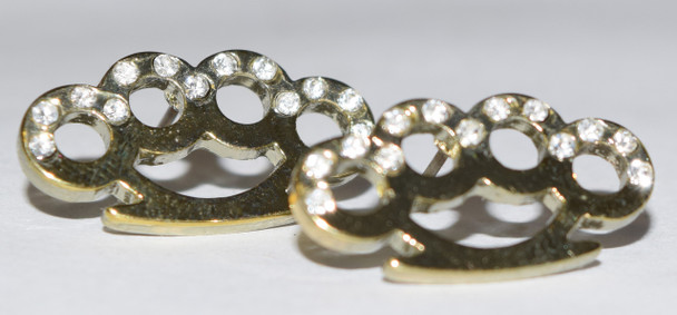 Gold Brass Knuckle Studs