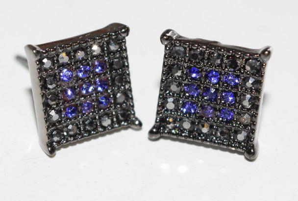 Gray&Blue Square Studs