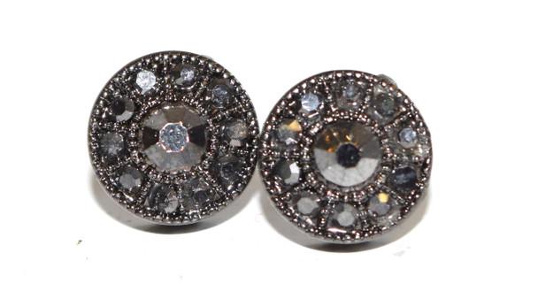 Gray Circular Studs