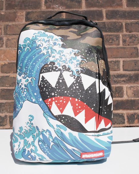 Sprayground Camokawa Shark Backpack