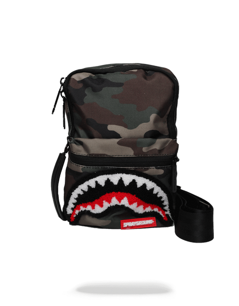 Sprayground Camo Shark Mini Sling (B1679)