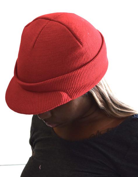 Red Beanie Visor