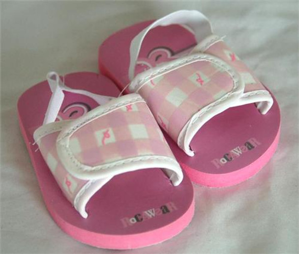 Rocawear Pink Plaid Baby Sandals