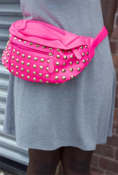 Pink Studded Waistbag