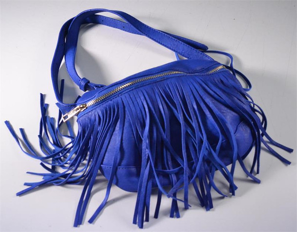 Blue Fringe Waistbag and Crossover Bag