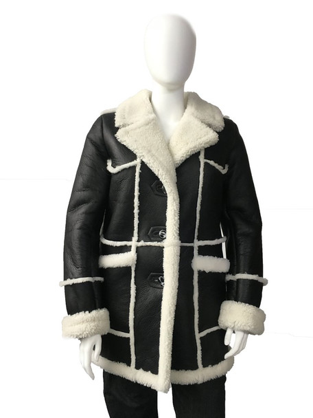 Black and White Unisex Sheepskin